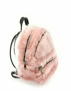 Fluffy pink backpack @ møe ⛅ fσℓℓσω мє for more! Cute Mini Backpacks, Stylish Backpacks, Girl Backpacks, Cute Purses, Purses And Bags, Fashion Bags, Fashion Backpack, Looks Baskets, Unicorn Fashion