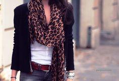 Beautiful leopard scarf!