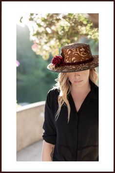 Head'n Home handmade hats include styles ranging from steampunk and cowboy to lightweight leather and mesh beauties. Hats proudly handmade in America. Otherwise known as headinhome custom hats. Leather Top Hat, Happy Woman Day, Fancy Hats, Types Of Women, Custom Hats, Hat Making, Made In America, Ladies Day, Going Out