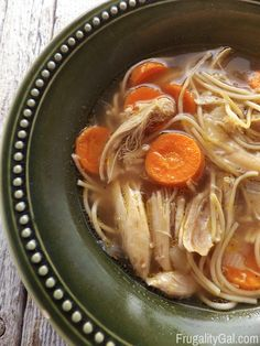 This simple homemade Chicken Noodle Soup Recipe is tasty, frugal and comes together in just under 45 minutes.
