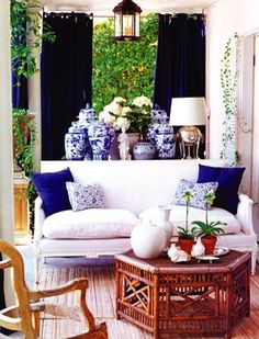 Mary McDonald Bamboo And Blue  Follow Us On Www.birdaria.com Like It