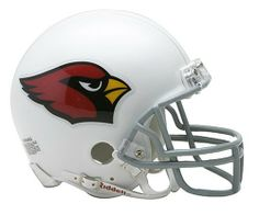 NFL Arizona Cardinals Replica Mini Football Helmet by Riddell. $21.99. The NFL® replica mini helmet from Riddell® is an approximate 1/2-scale version of the standard team helmet. This officially licensed mini helmet is made with an ABS plastic shell, face mask, realistic jaw pads and a chin strap. The helmet design is taken from actual uniform type faces and displays the team decals on the shell. Great for getting autographs from your favorite athletes.