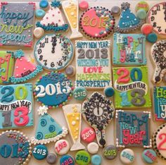 New Year's Eve sugar cookies!