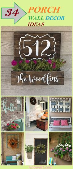 34 Beautiful Porch Wall Decor Ideas to Make Your Outdoor Area More Welcoming - Rina Watt Blogger - Home Decor, DIY and Recipes Porch Wall Decor, Diy Porch, Mason Jar Candle Holders, Hanging Mason Jars, Diy Planter Box, Diy Planters, Black Planters, Window Planters, Hanging Letters