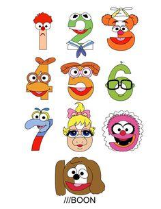 Muppet Babies Numbers Art Print