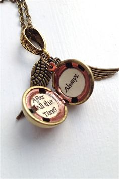 Harry Potter Font Golden Snitch Always Necklace by SimplyHarry, $29.00