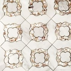 Cassie Chapman Rene Marble and Pearl Tile - Pearl Shell Tiles