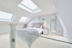 Browse images of modern Bedroom designs: l-shaped loft conversion wimbledon. Browse images of modern Bedroom designs: l-shaped loft conversion wimbledon. Find the best photos f Loft Room, Bedroom Loft, Master Bedroom, Garage Bedroom, Garage Loft, Dormer Bedroom, Night Bedroom, Mezzanine Bedroom, Loft Wall