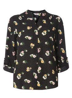 Petite Multi Colour Floral and Spot Print Shirt