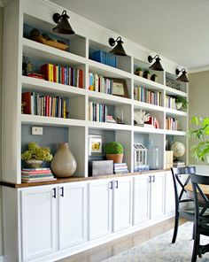 I Like The Look Of These Built In Shelves With Cabinets Below Also