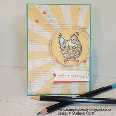 Angela Meiritz-Reid | Hey, Chick stamp set and Cupcakes & Carousels DSP 2017 Stampin' Up!® Occasions Catalogue and Sale-A-Bration Brochure.