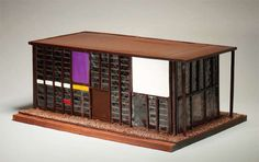 Chocolate Eames House. No-brainer.