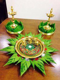 กระทง Thali Decoration Ideas, Stage Decorations, Diwali Decorations, Indian Wedding Decorations, Festival Decorations, Flower Decorations, Rangoli Designs Flower, Flower Rangoli, Flower Designs