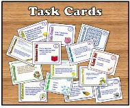 Ways to Use Task Cards in the Classroom individually, with small groups, and with the whole class!