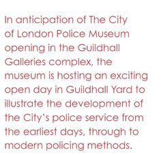 City of London Police Museum Open Day 27/7 #london #londonevents #museums #police #policemuseum #londonguildhall #guildhall