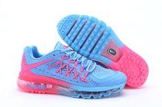 Big Discount Best Nike Air Max 2015 II Baby Blauw Babyroze Rennen Schoenen Voor Vrouwen Online