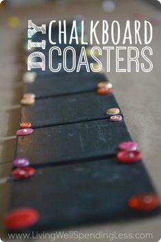 DiY Chalkboard Coaster Set - Living Well Spending Less™