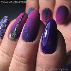 Nail Polish Designs, Gel Polish, Nail Art Designs, Violet Nails, Gel Nagel Design, Nails Design With Rhinestones, Nail Time, Colorful Nail Designs, Nagel Gel