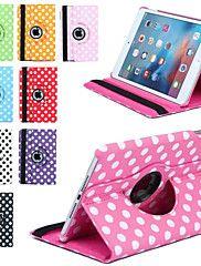 Luksus+Print+Prikkede+360+Rotation+PU+Læder+Taske+Til+Apple+Ipad+Mini+3/2/1+Tablet+Smart+Etui+Flip+Tilpasset+Med+Stativ+–+DKK+kr.+372