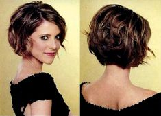 Medium Bob hairstyles are very versatile, as it allows you to watch stunning design with less effort. Medium Bob hairstyles looks like a man in a position Short Wedge Hairstyles, Bob Hairstyles With Bangs, Layered Bob Hairstyles, Mom Hairstyles, Pretty Hairstyles, Bob Haircuts, Short Bob Thick Hair, Short Hair With Layers, Short Hair Cuts