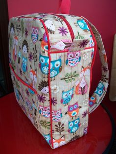 Childs backpack. Love this fabric!