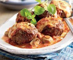 Ofenfrikadellen in Tomaten-Pilz-Sahne Rezept