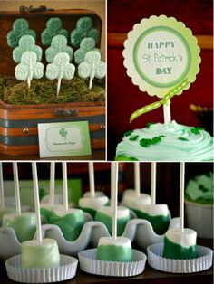 St Patrick's Day Green Ombre Party  with FREE Party Printables! by Bird's Party Chinese New Year Party via Bird's Party #StPatricksDay #StPaddys #StPattys #StPaddysDay #PartyIdeas #Festa #Verde #Anniversaire #Vert #Party #PartySupplies #Pirntables #Food #Favors #printables #freeprintables