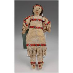 Sioux Hand Made Leather Doll Fully Clothed Native American Dolls, Native American Artifacts, Sioux, Vintage Dolls, Decorative Items, Nativity, Antiques, Leather, Handmade