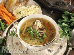 Fácánleves Újházy módra recept Thai Red Curry, Soup, Ethnic Recipes, Soups