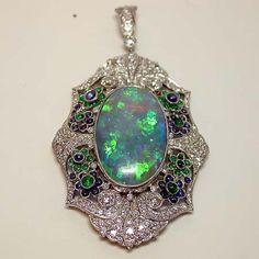 Edwardian opal and diamond jewelry