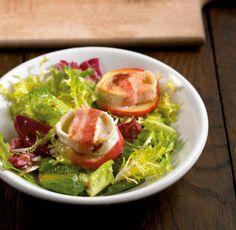 Salat mit überbackenem Ziegenkäse