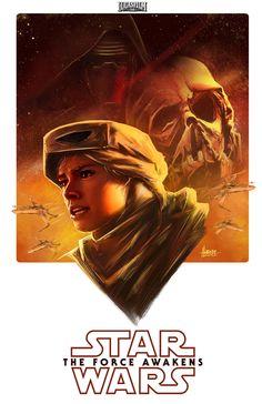 Star Wars Poster, Harvey Bunda on ArtStation at https://www.artstation.com/artwork/q0v1e