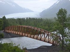 Neil Hunt, Patrick Engineering | The Placer River Trail Bridge is a 280-foot camelback truss bridge believed to be the longest clear-span glulam timber truss bridge in North America.