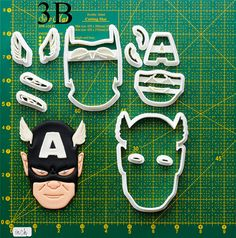 Captain America Cookie Cutter.Let you make beautiful cookies EASY. This Company has hundreds of theme cookie cutters. customizes moldings, cookie cutters, cookie cutter, cutters, cutter, silicone mold, silicone molds, stencil, stencils, baking supplies, baking.