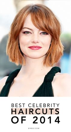 The swag, the lob, blunt bobs, pixie crops, and more of the best celebrity haircuts of 2014.