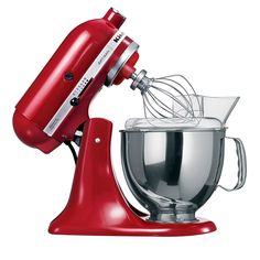 Amazon.de: KitchenAid Küchenmaschine Artisan rot 5KSM150PSEER ...