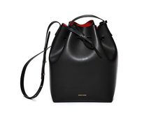 Mansur Gavriel - Bucket Bag, in black with flamma interior, $495
