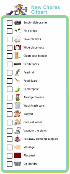I've received a lot of good suggestions for items to add to the Chore Chart activity - here are 18 new options to choose from!