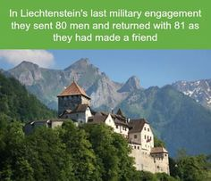 Liechtenstein's Last Military Engagement