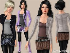 sims2fanbg's 325 - Teen Metal outfit