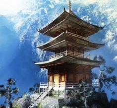 Temple bouddhiste zen 61445641 - Decomurale inc.