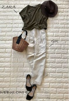 Tomboy Fashion, Office Fashion, Fashion Pants, Fashion Outfits, Womens Fashion, Classy Summer Outfits, Trendy Outfits, Casual Travel Outfit, Capsule Outfits