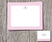 Fun Personalized thank you cards and envelopes. Love Gingham? You will love this! https://www.etsy.com/shop/DesignsByDanaV designsbydanav@gmail.com