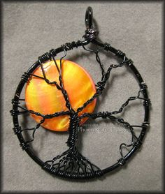 Love, love LOVE this!  Halloween moon tree | Under A Halloween Moon – Tree of Life Pendant with Orange Pearl Coin ...