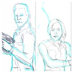 #Wip of some #Defiance fanart.  Defiance is a great show- the designs are simply beautiful! You don't see much of my illustration work so here have a work in progress shot! #Photoshop #illustration #savedefiance