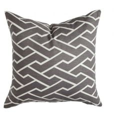 CHARCOAL CITY MAZE PILLOW: Navigating through bustling city streets, this fresh geometric pops in every color.