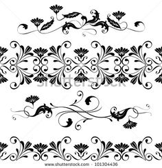 Find Vector Set Swirling Decorative Floral Elements stock images in HD and millions of other royalty-free stock photos, illustrations and vectors in the Shutterstock collection. Illustrations, Illustration Art, Linear Art, Cute Tats, Tattoo Addiction, Lace Tattoo, Tattoo Art, Flash Art, Sgraffito