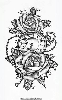 awesome Tattoo Trends – Rose with pocket watch tattoo Sale! Shop … awesome Tattoo Trends – Rose with pocket watch tattoo Sale! Shop at Stylizio for women… Pocket Watch Tattoos, Pocket Watch Drawing, Neue Tattoos, Body Art Tattoos, Tattoo Hip, Tattoo Drawings, Clock Tattoos, Small Tattoo, Clock Tattoo Sleeve