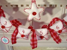 Love this advent garland...someday I'll actually finish mine!