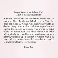 Deep life quotes- Women empowering, woman& inspirations & Becca Lee Deep life quotes- Women empowering, woman& inspirations & Becca Lee The post Deep life quotes- Women empowering, woman& inspirations & Becca Lee appeared first on Katherine Levine. Words Quotes, Wise Words, Me Quotes, Motivational Quotes, Inspirational Quotes, Sayings, Quotes Women, Jealousy Quotes, Pretty Words